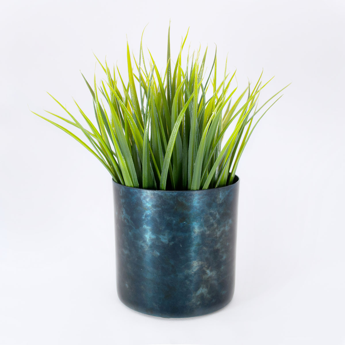 blue black plant pot