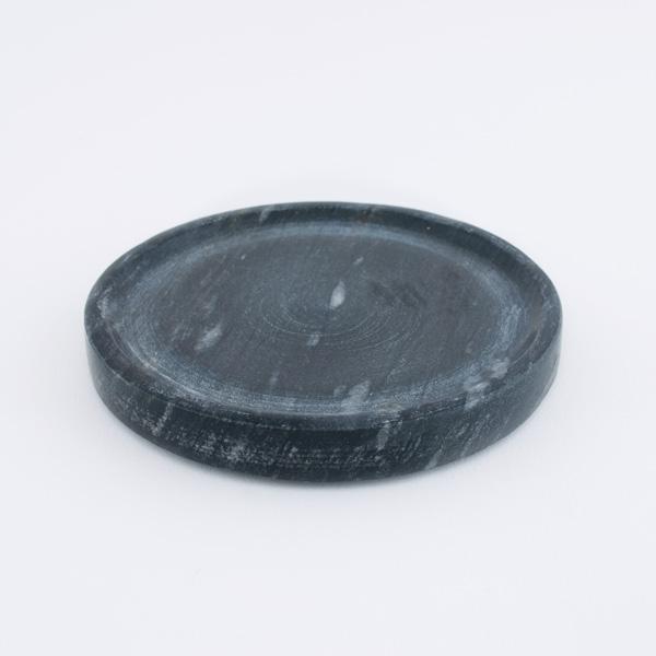 black marble plate