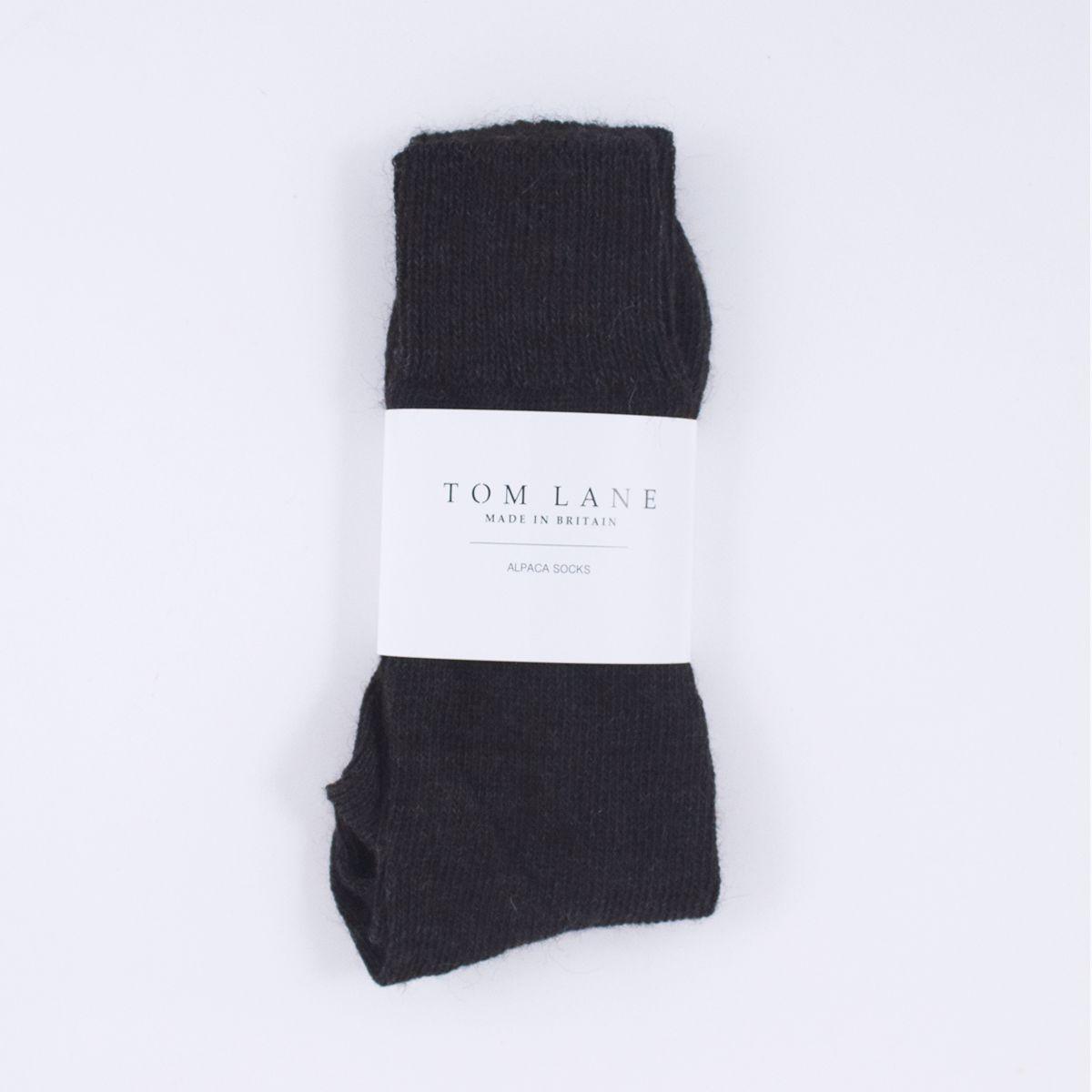 charcoal alpaca socks