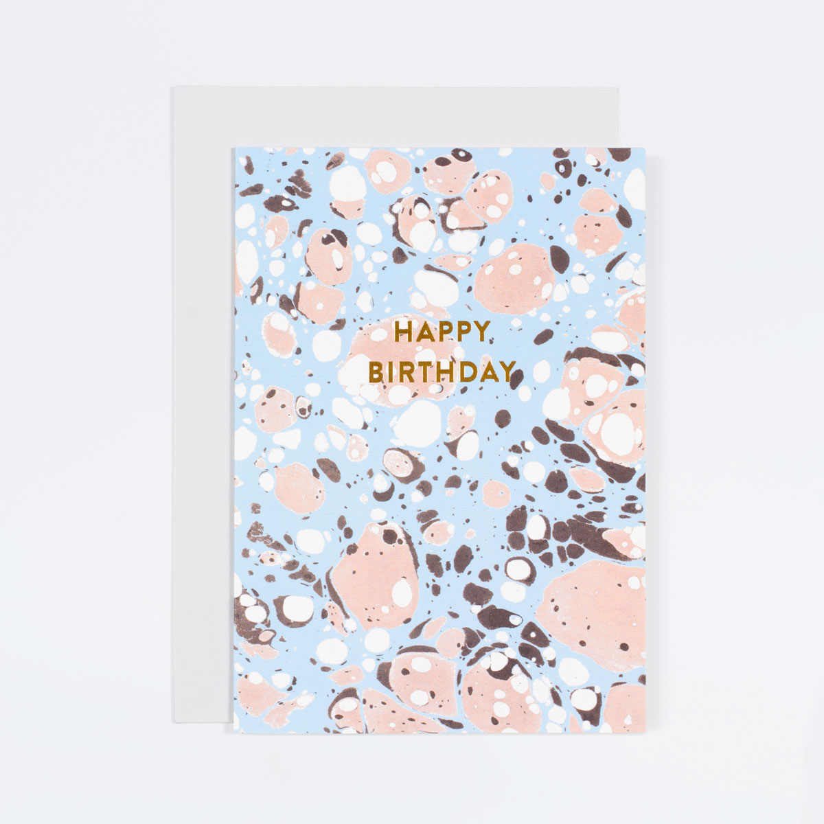 Blue Marble Birthday Card