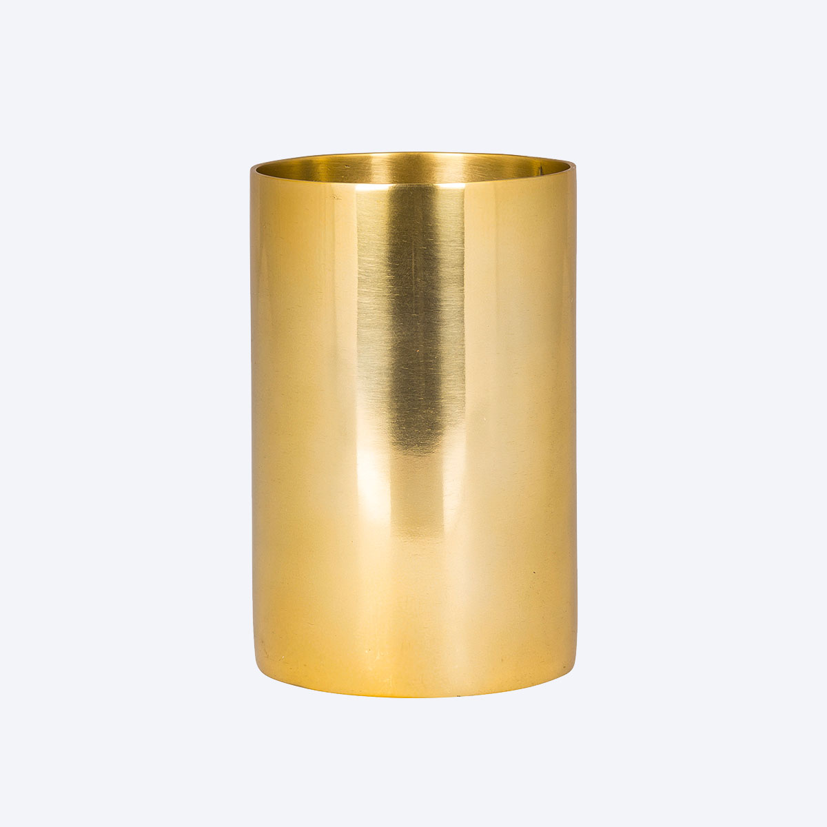 tall brass pot