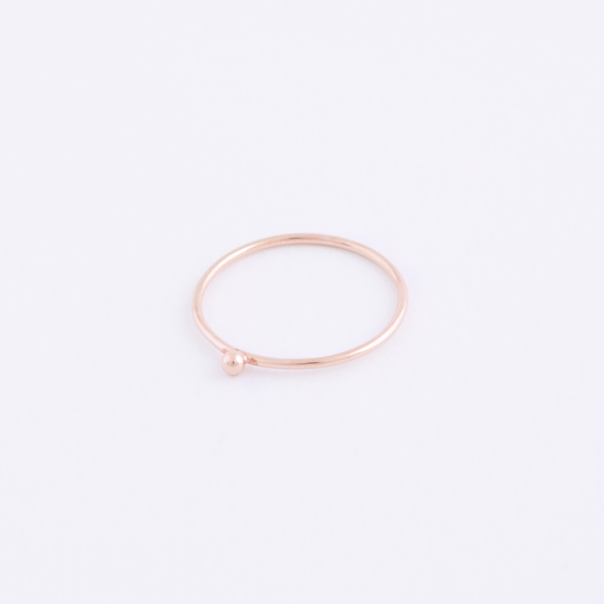 rose gold dot ring