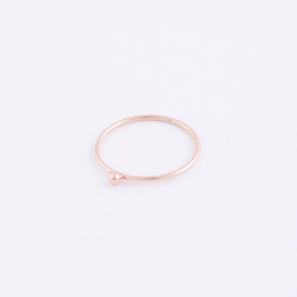 rose gold dot ring