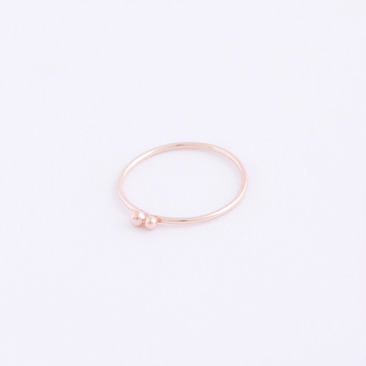 rose gold double dot ring