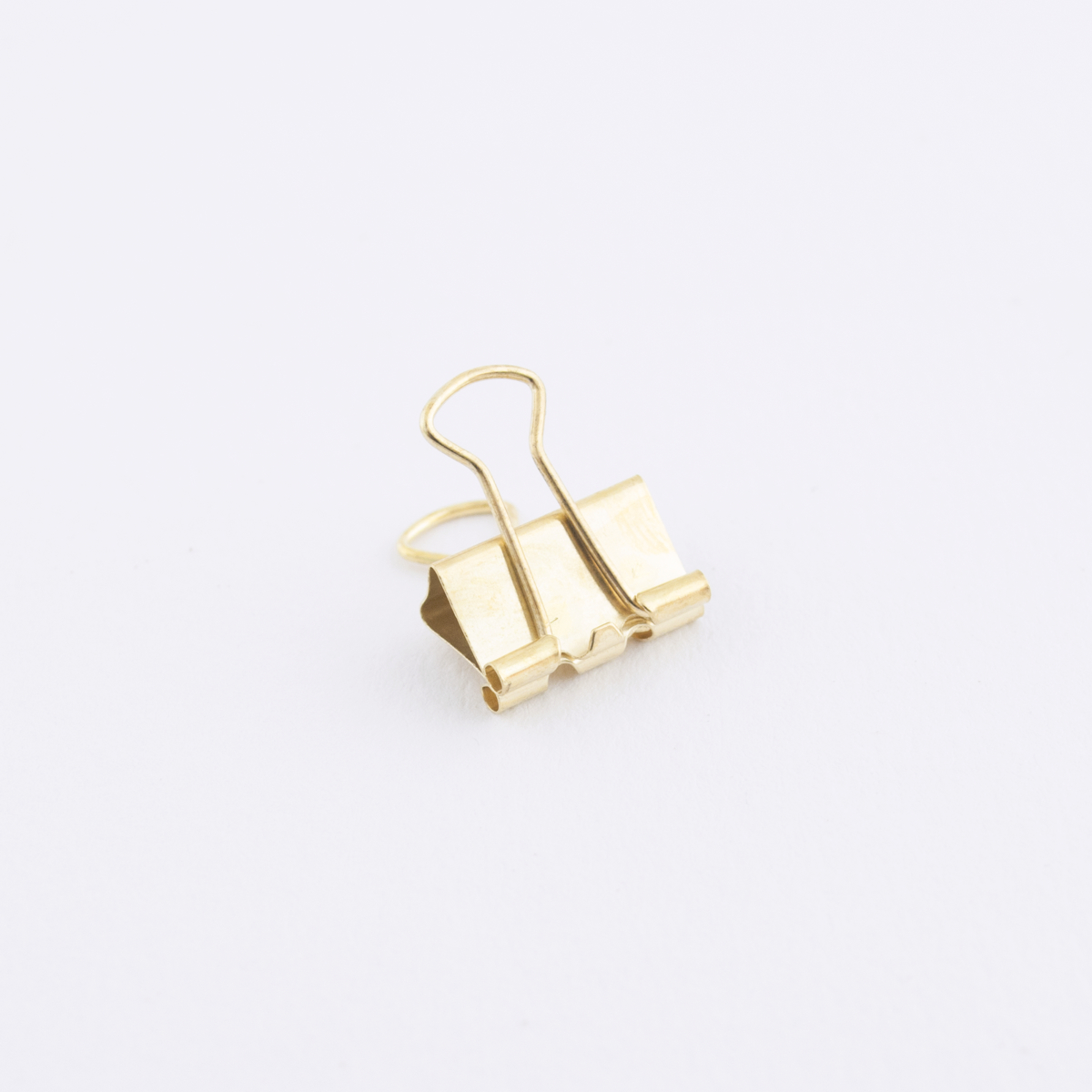 small gold binder clip