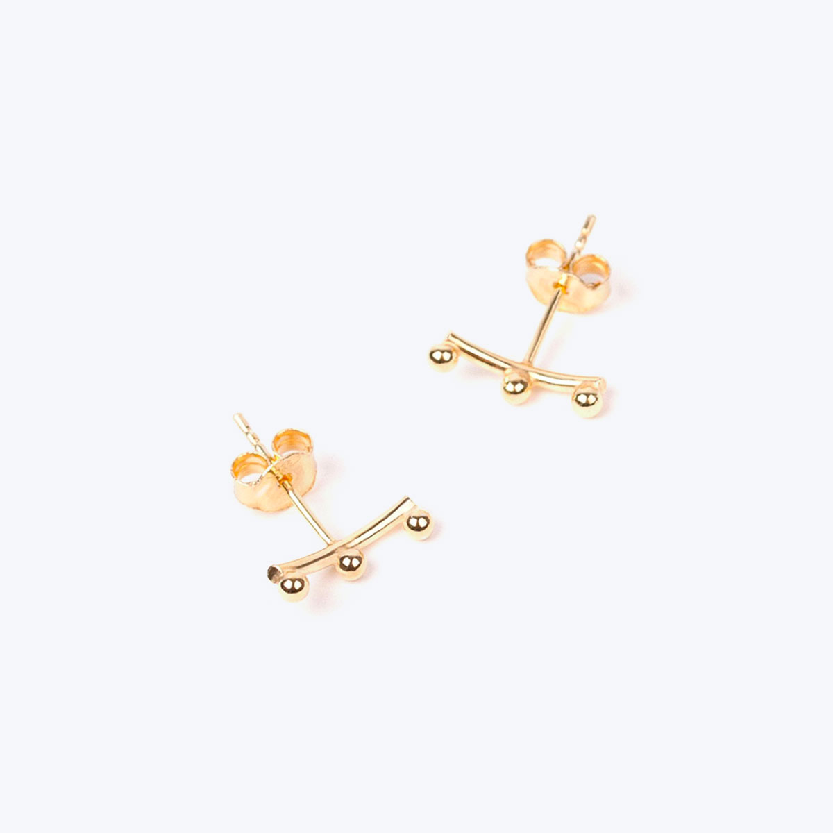 gold constellation earrings