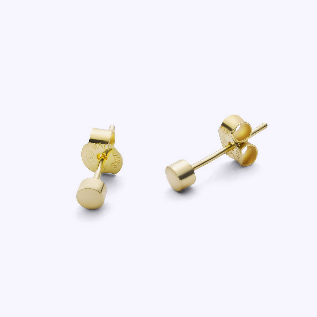 gold disc earrings
