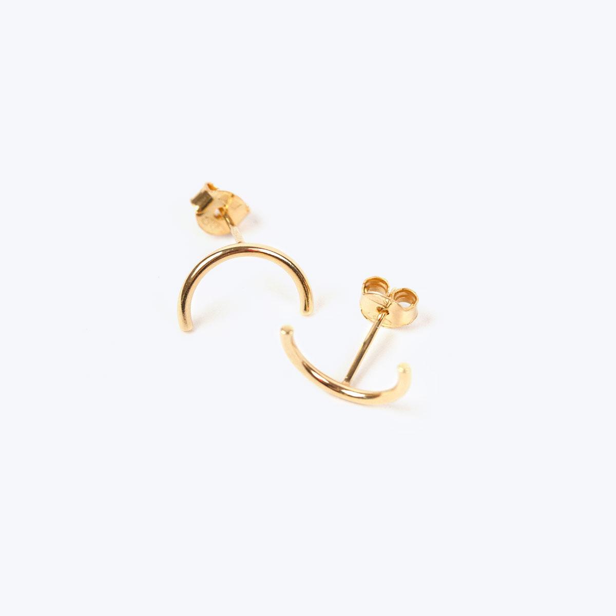 Gold Semi Circle Earrings