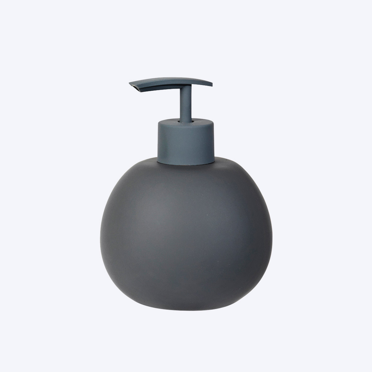 grey ceramic soap dispenser