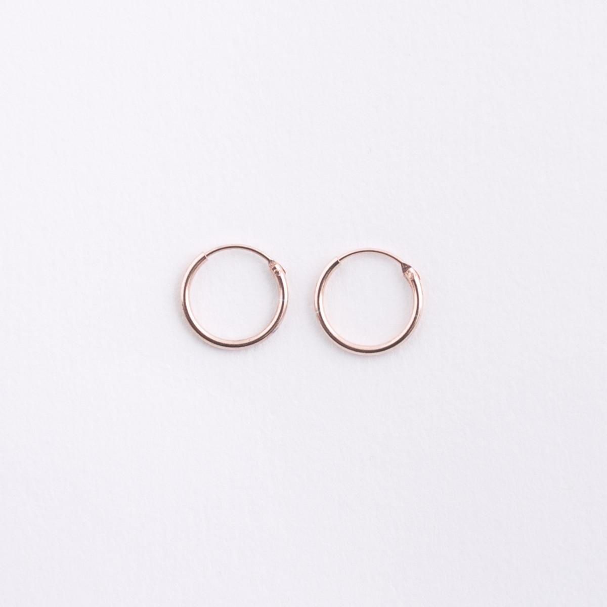 Small Rose Gold Hoop Earrings • HOPSCOTCH • e01c12f74ce5