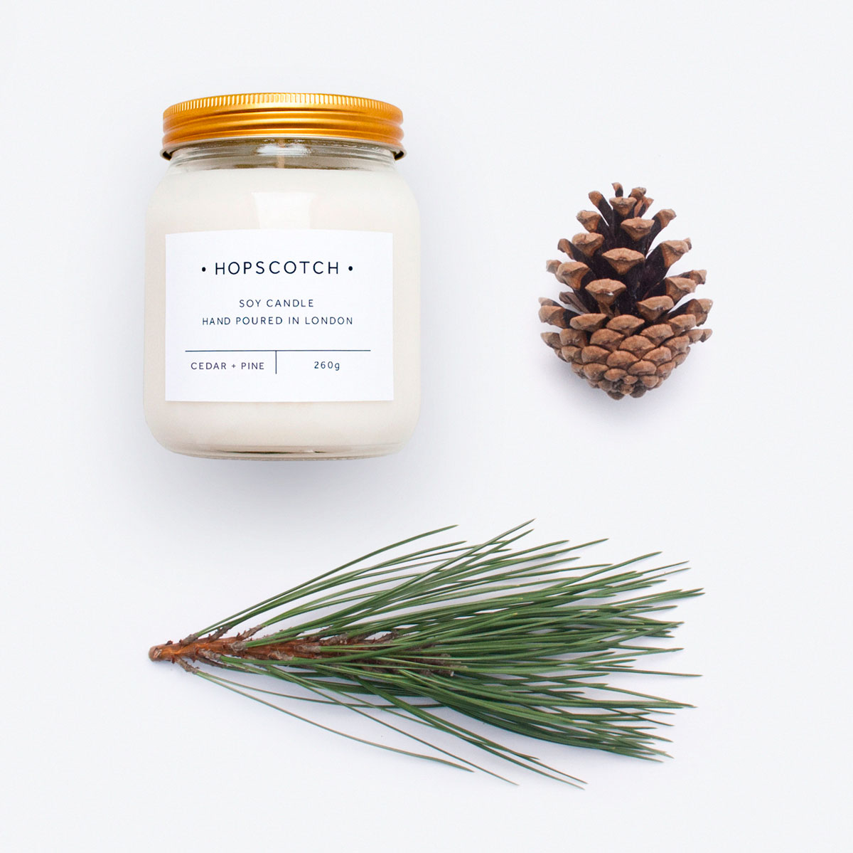 Hopscotch Cedar + Pine Large Jar Candle