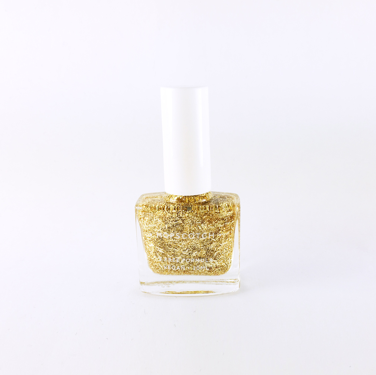 gold glitter vegan nail varnish