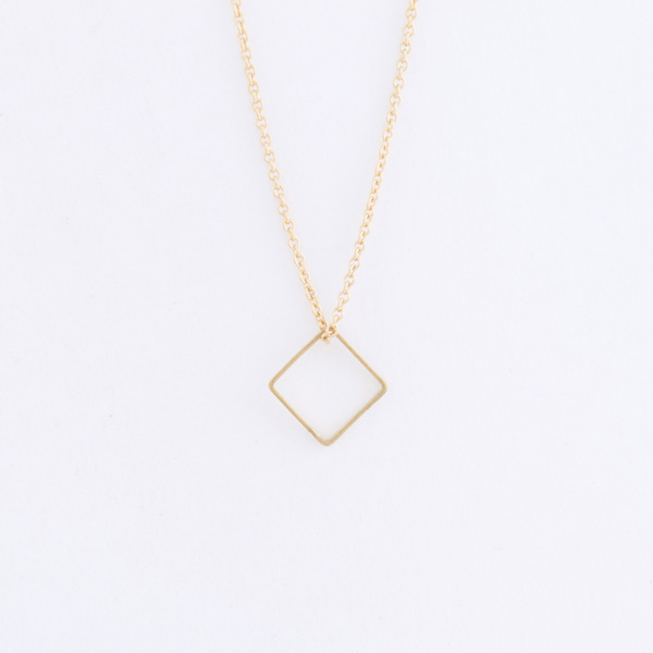 Brass Diamond Necklace