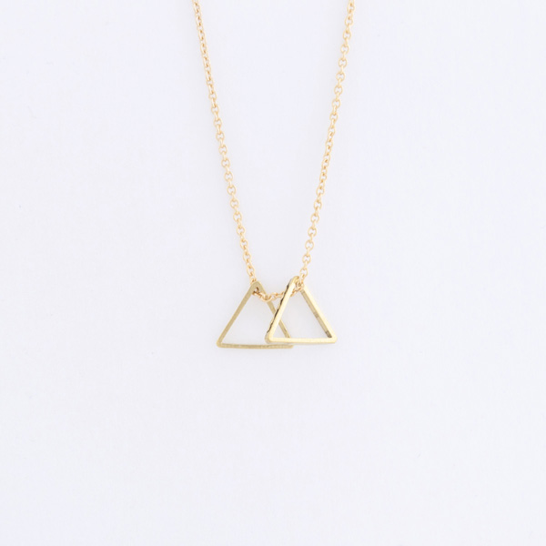 Double Small Triangle Necklace