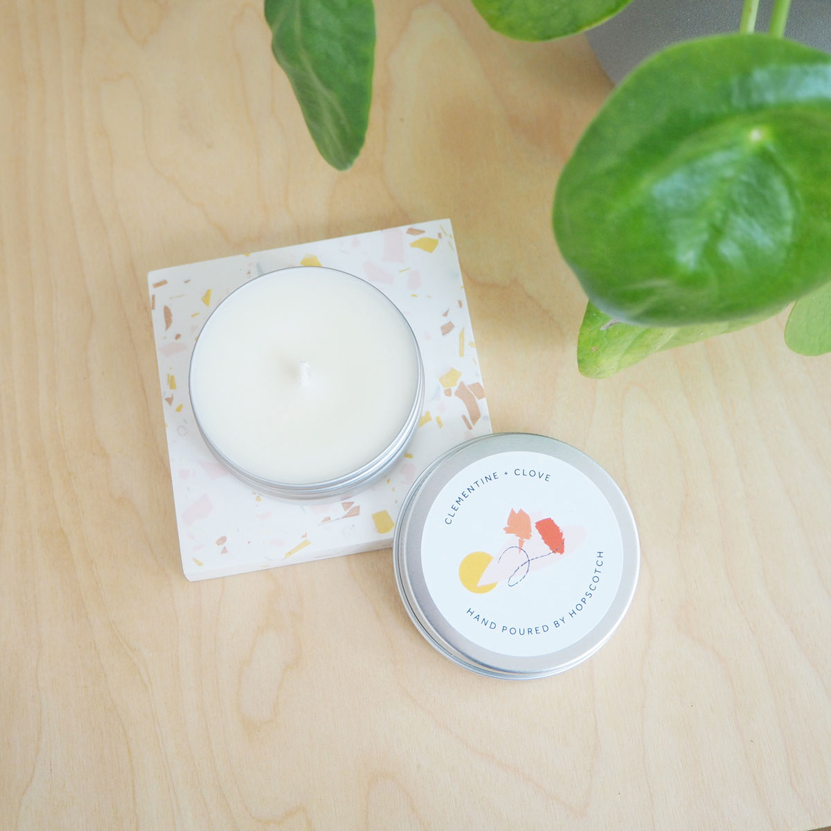 Clementine + Clove Scented Soy Candle