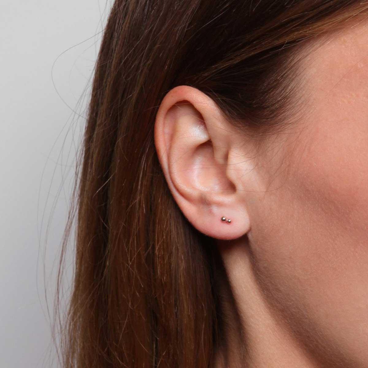 double dot stud earrings