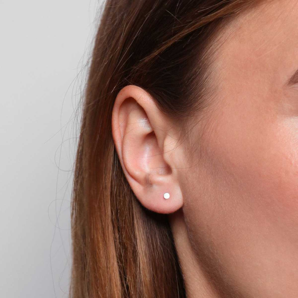 tiny circle stud earrings