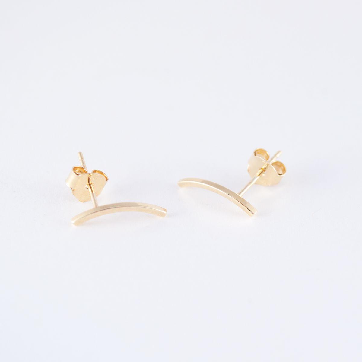 gold curve earrings
