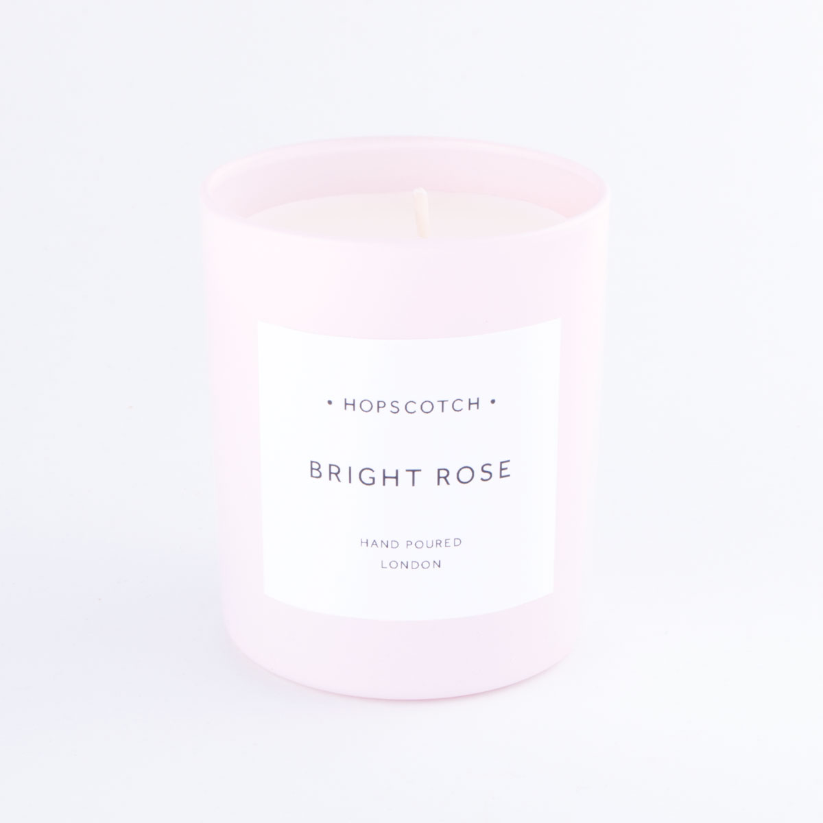 pink bright rose candle