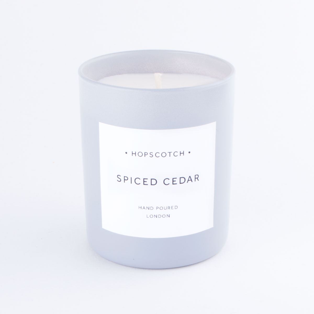 grey spiced cedar candle