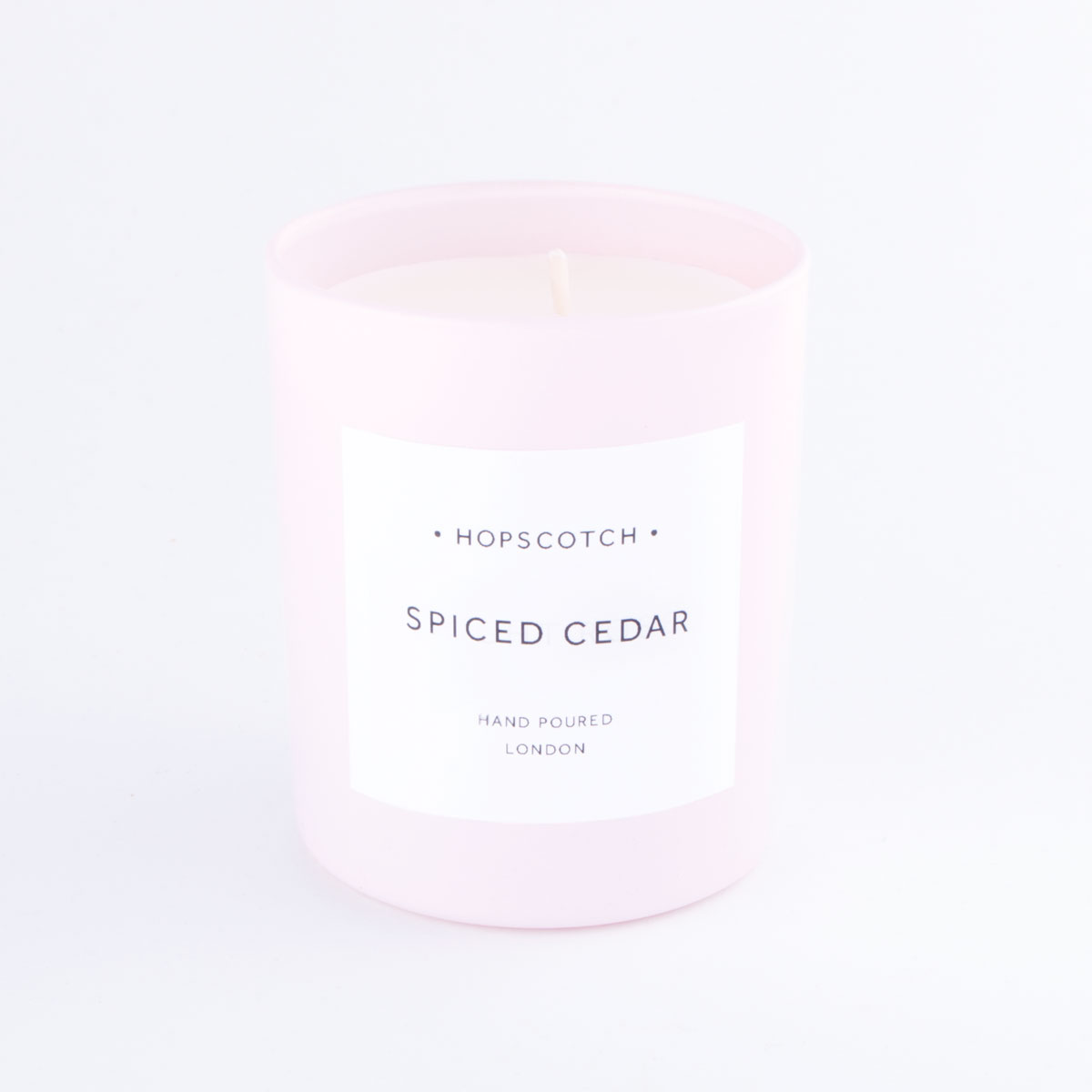 pink spiced cedar candle