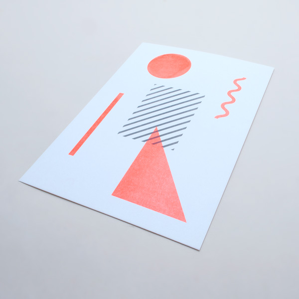geometric riso print