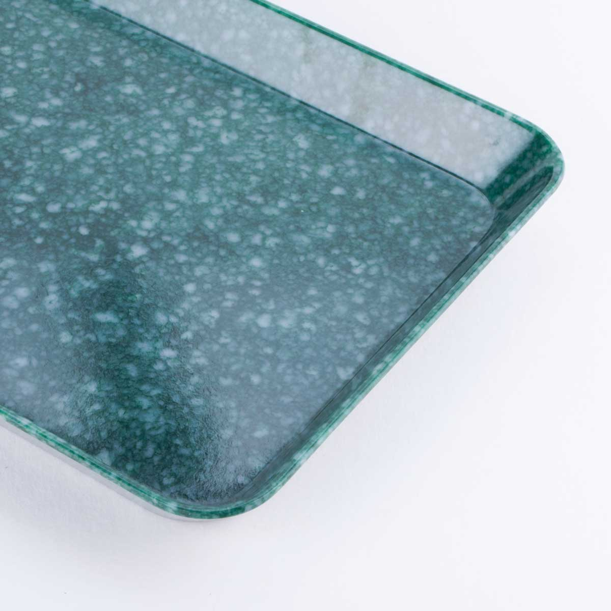 green marbled desk tray