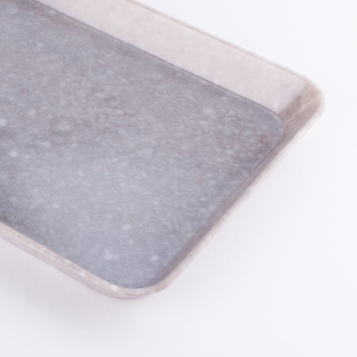 grey marbled desk tray