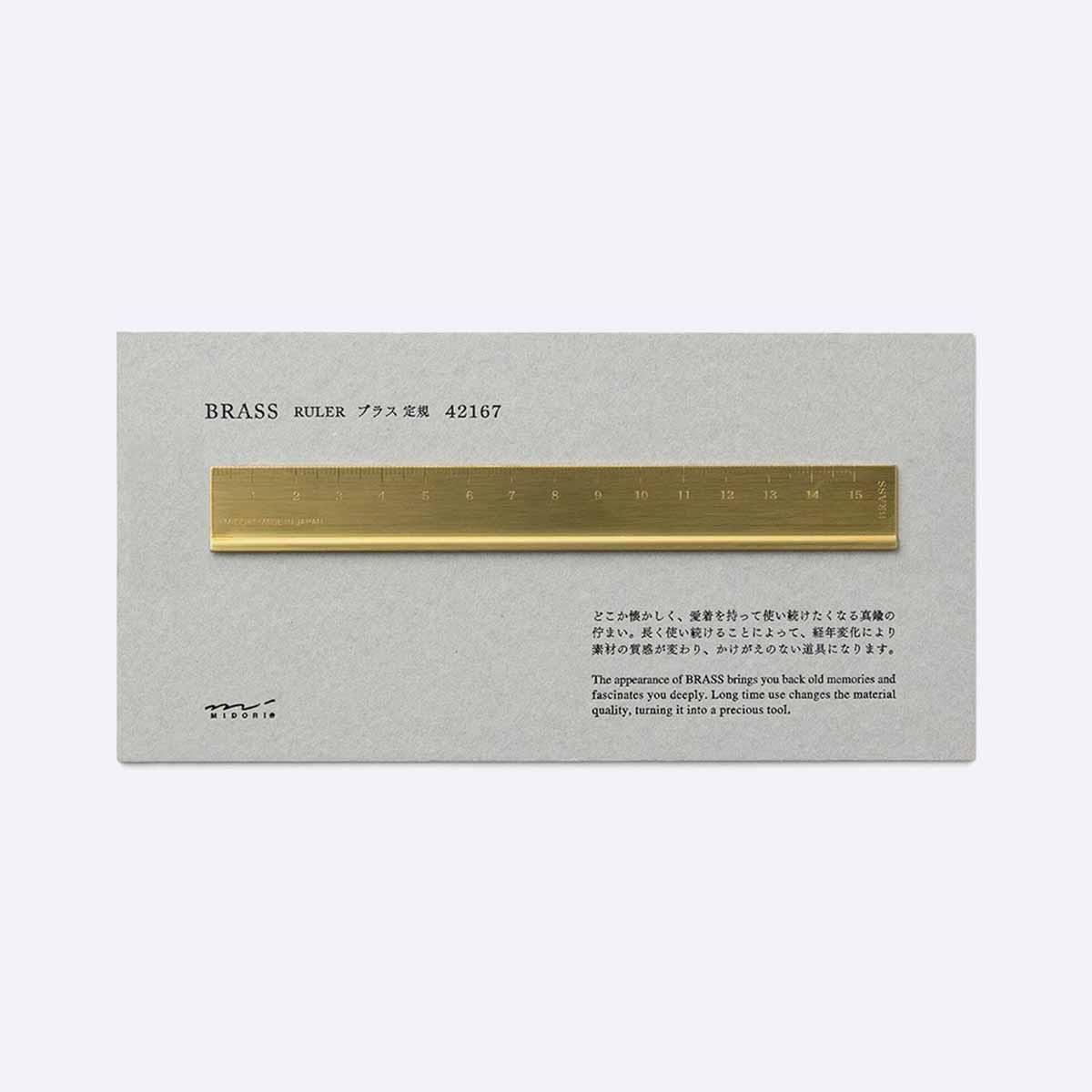 Midori Brass Ruler