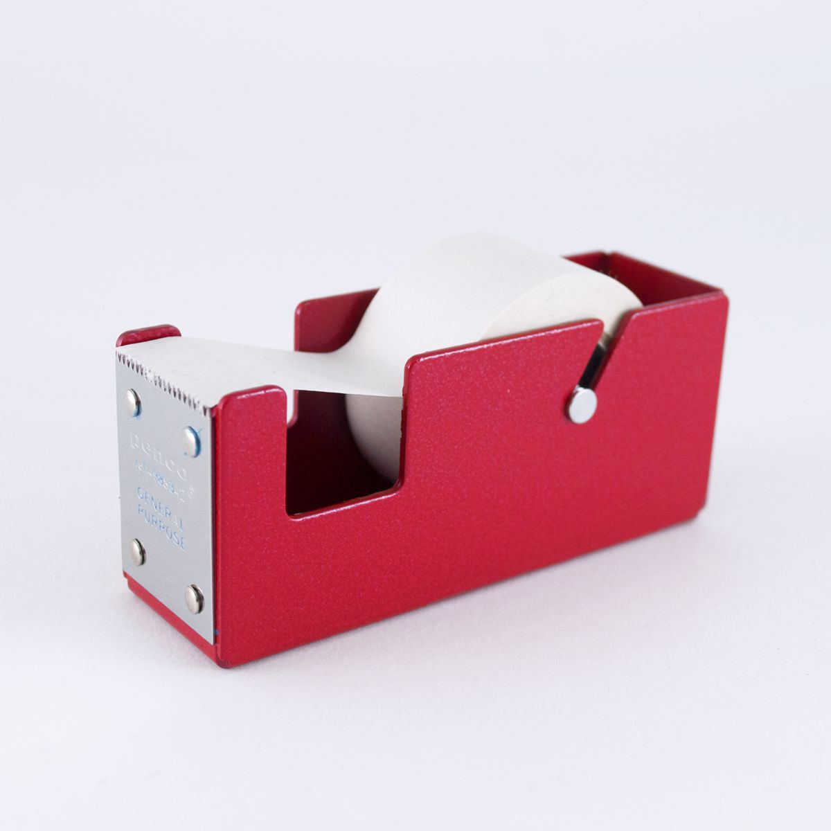 Small Red Metal Tape Dispenser
