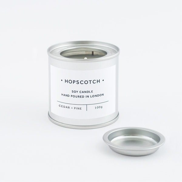 Hopscotch Cedar + Pine Mini Soy Candle