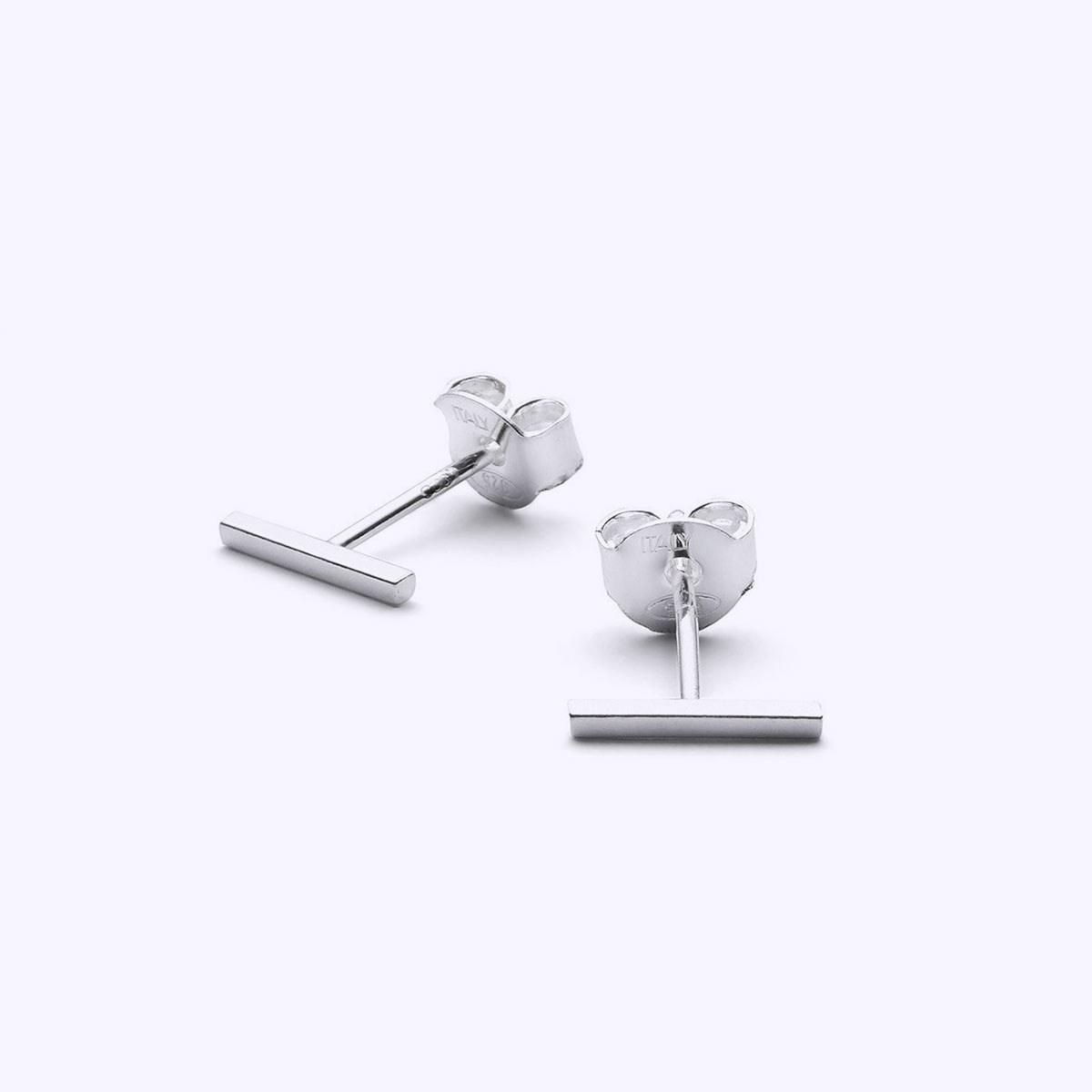 silver line earrings