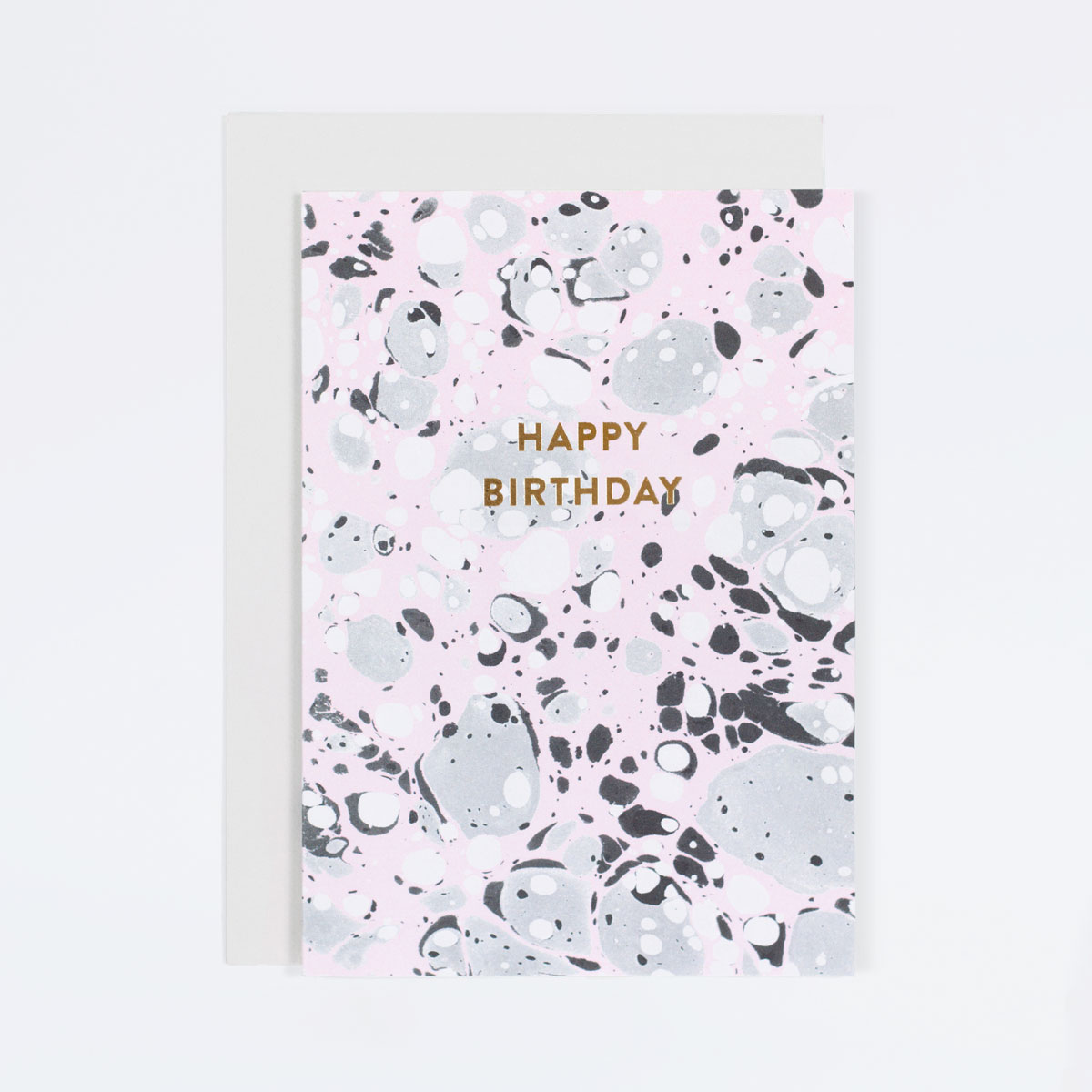 pink marble birthday card