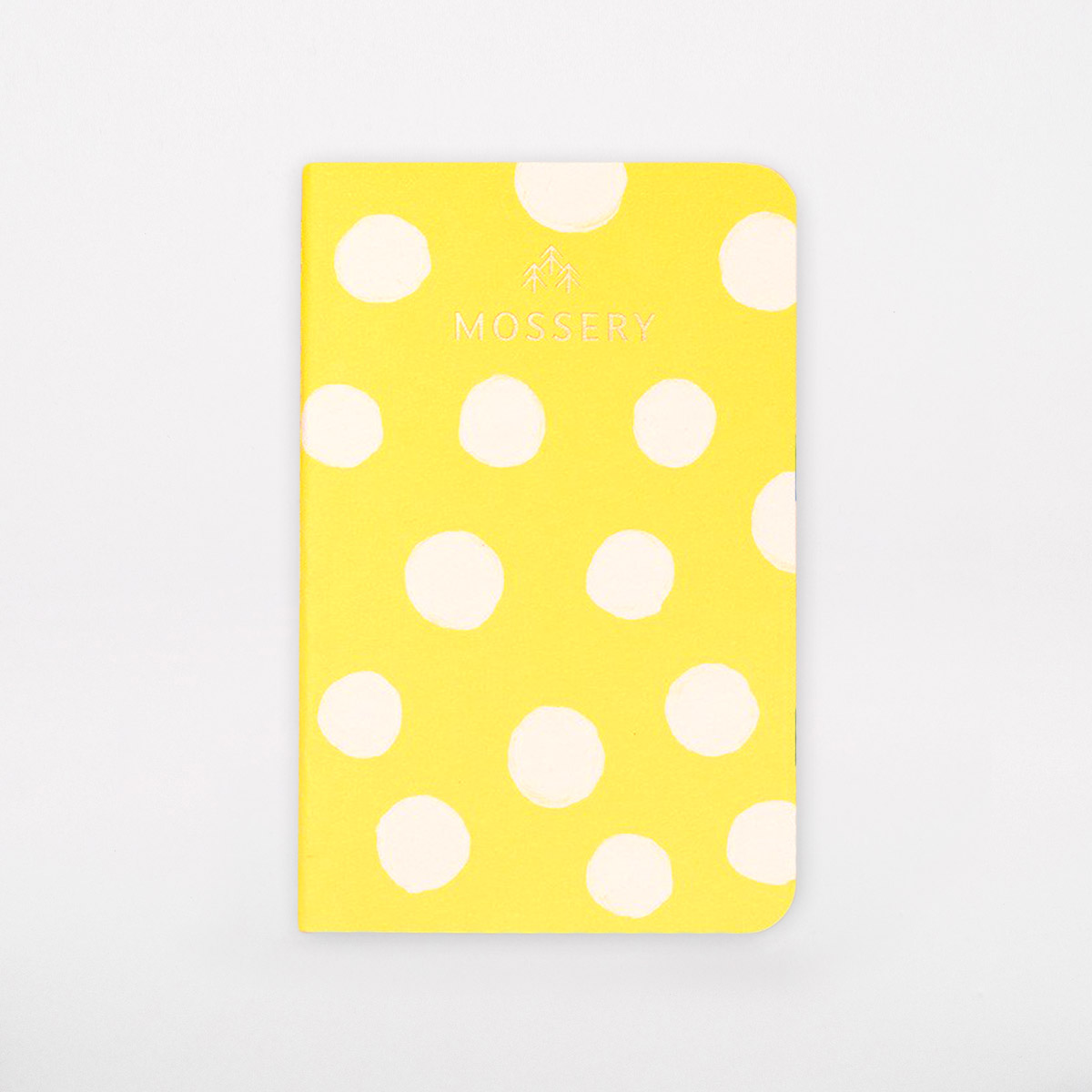 yellow dot pattern notebook