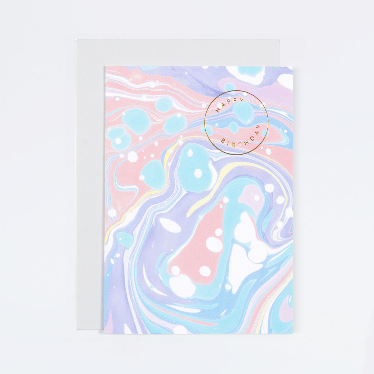 purple marble birthday card