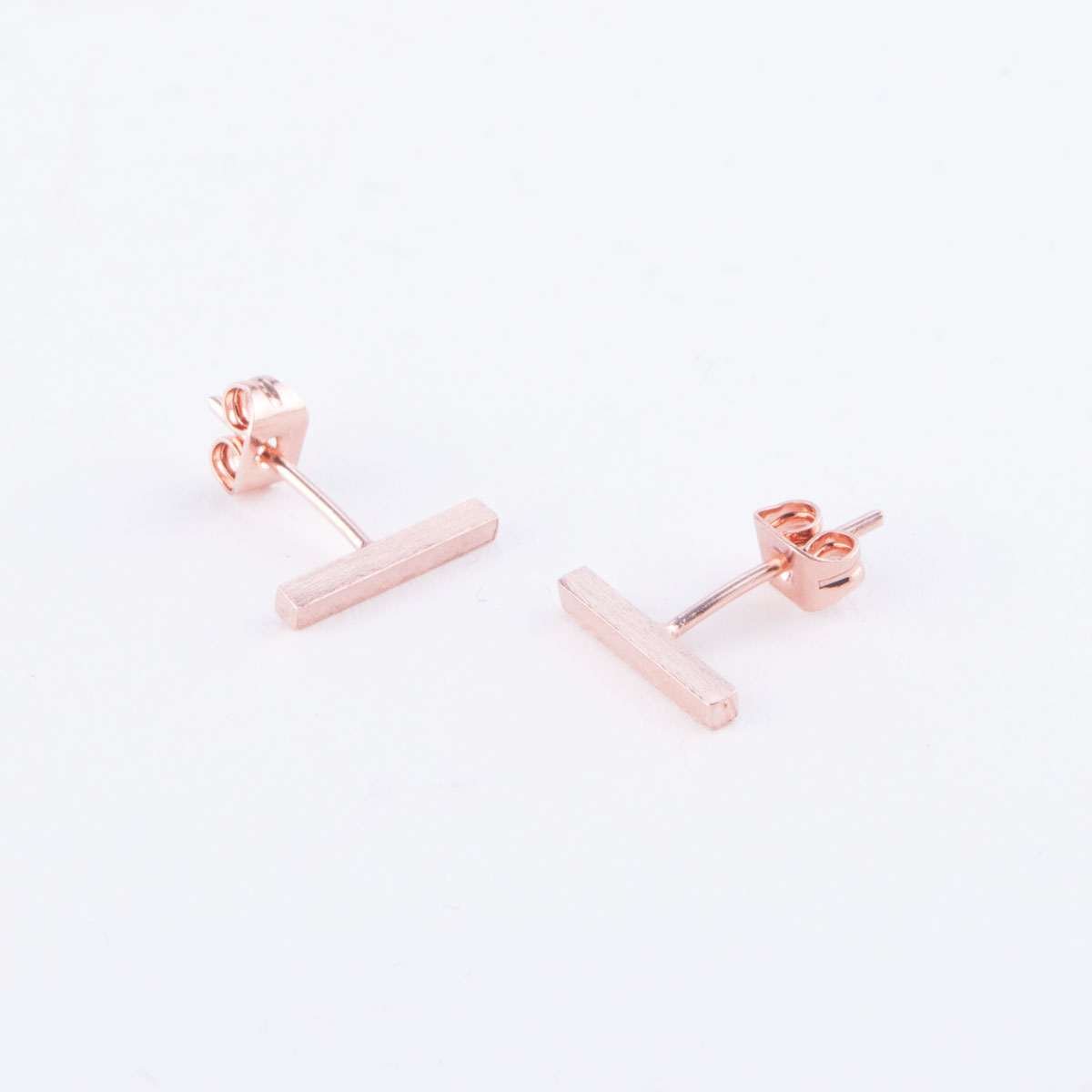 rose gold staple earrings