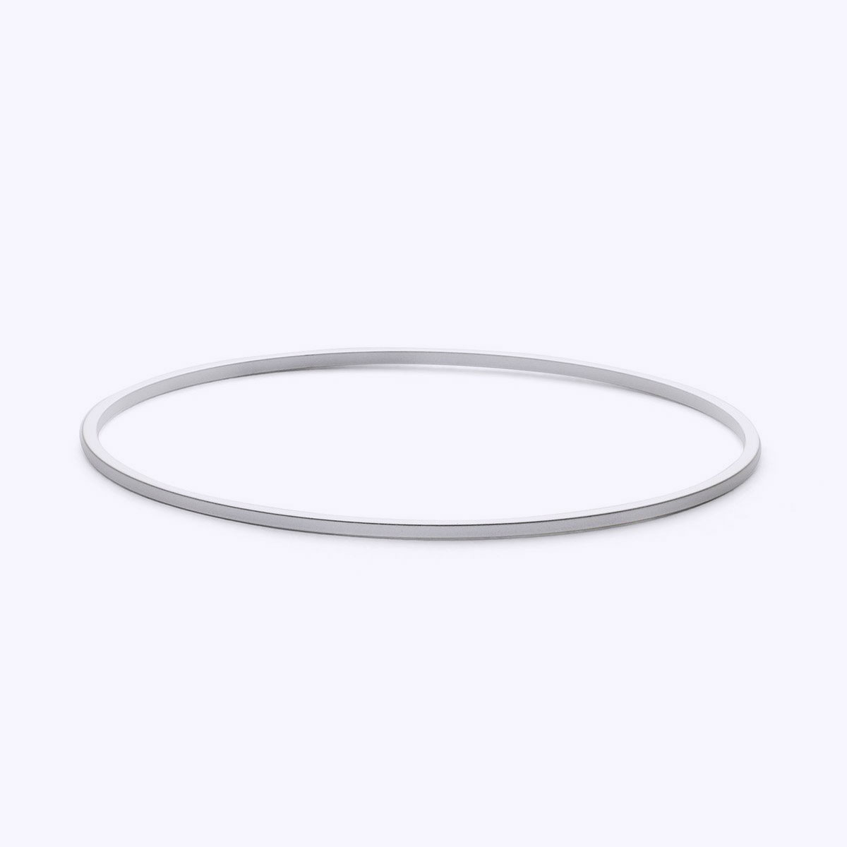 minimal silver bangle