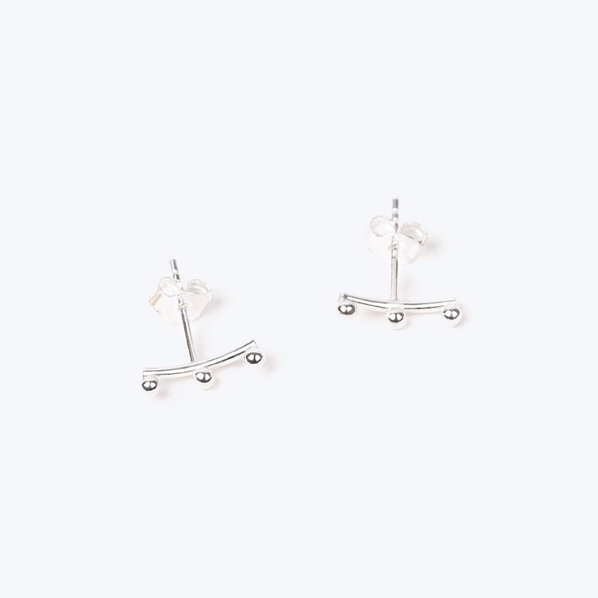silver constellation earrings