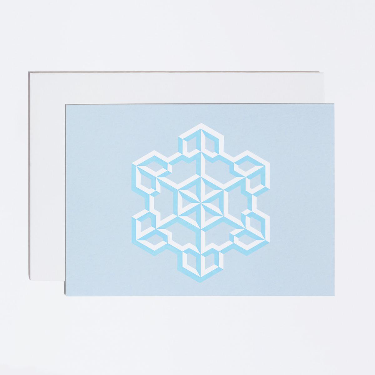 Snowflake Foil Christmas Card