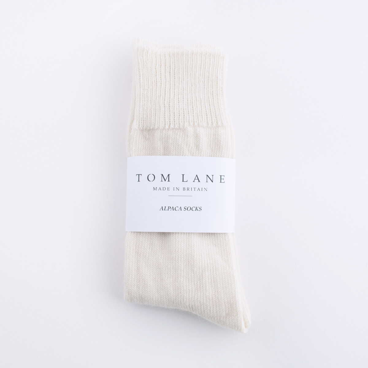 cream alpaca socks