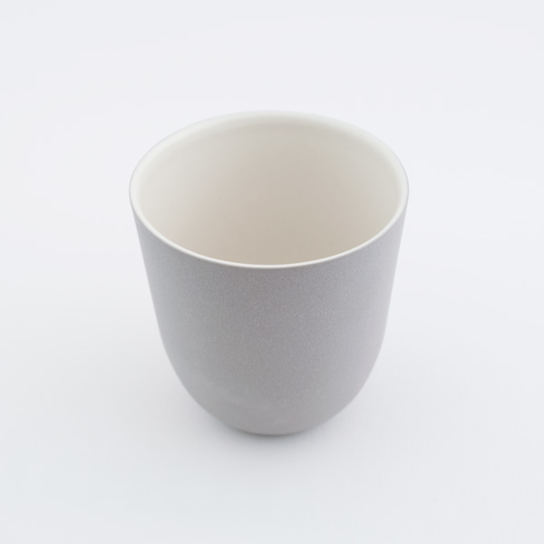 Grey And White Porcelain Cup