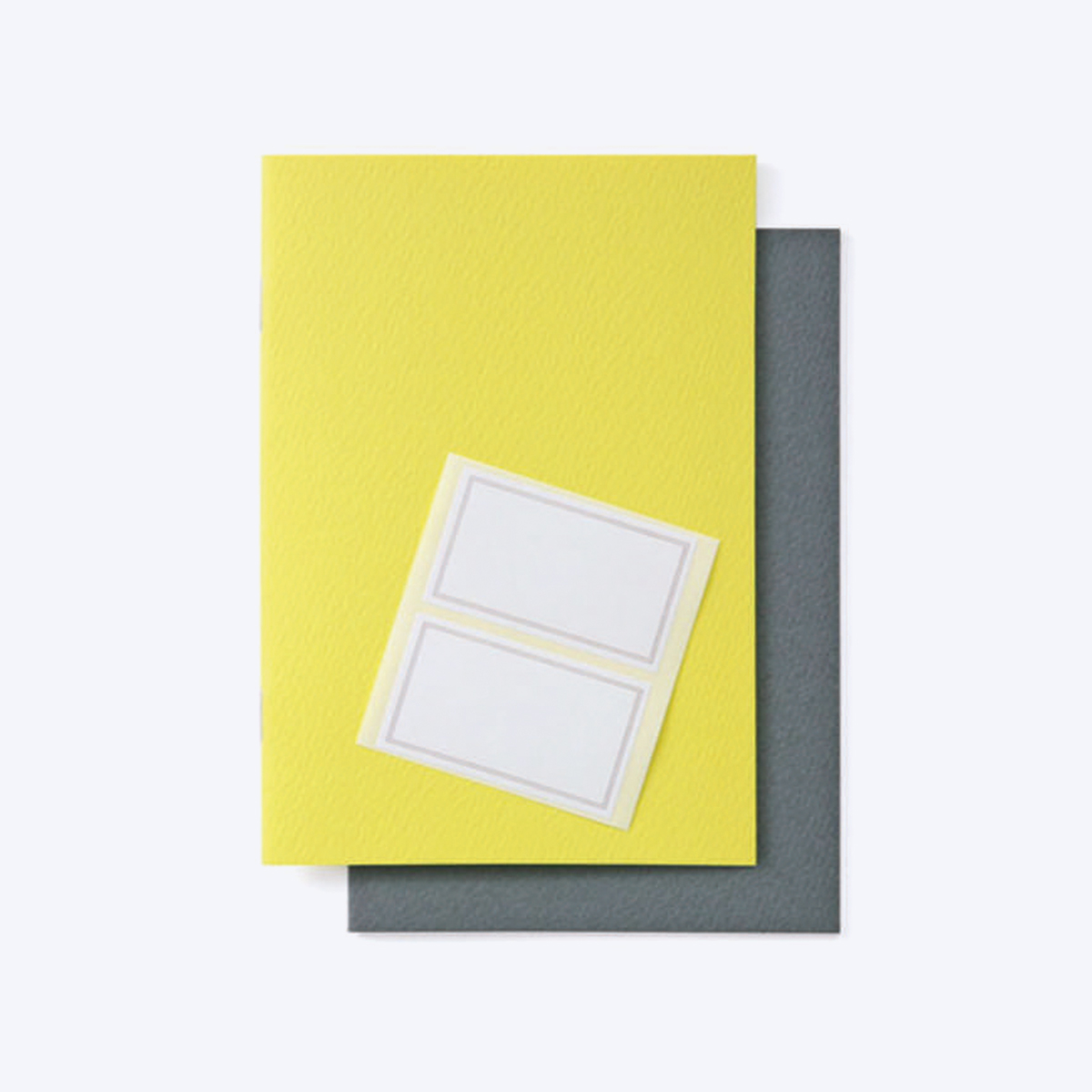 Yellow and Grey Notebook Set